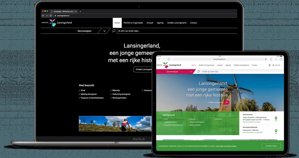 Website Gemeente Lansingerland met meer contrast en zonder,